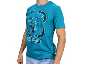 Camiseta Country Masculina Long Horn Texas Road